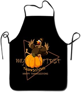 Colorful products Kitchen Apron For Women Personalised Apron Dress Men Cooking Apron Pinafore First Thanksgiving Day Feast Turkey Apron