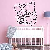 sanzangtang Pegatinas de Pared de Oso clásicas Calcomanías de Vinilo de Dormitorio de bebé Personalizadas Decoración Mural Impermeable a Prueba de Humedad,