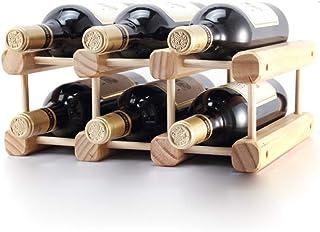 Logo TLF-FF Sólido de Vino de Madera del Estante de Madera Creativo de Bastidores de Vino Puede ser ensamblado Simple 32x2...