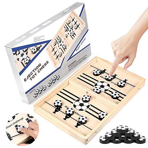 Zaloife Brettspiel Hockey, Katapult Brettspiel, Bouncing Hockey, Bouncing Brettspiel, Puck Game, Bouncing Chess Hockey Game, Hockey Brettspiel, Interaktives Eltern-Kind-Schachspielzeug (Fußball)