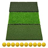 Best Golf Practice Mats - SkyLife 3-Turf Golf Hitting Grass Mat, Portable Training Review