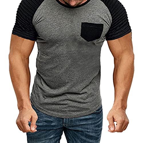 Su-xuri Men's - Camiseta de manga corta para running, yoga, fiesta