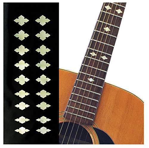 ジャカモウ Traditional カット・ダイヤモンド (Aged ホワイト・パール) ギター ベース ウクレレ インレイステッカー F-308SD-AWP