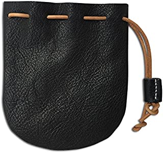 Fantastic Workmanship Genuine Leather Drawstring Coin Purse