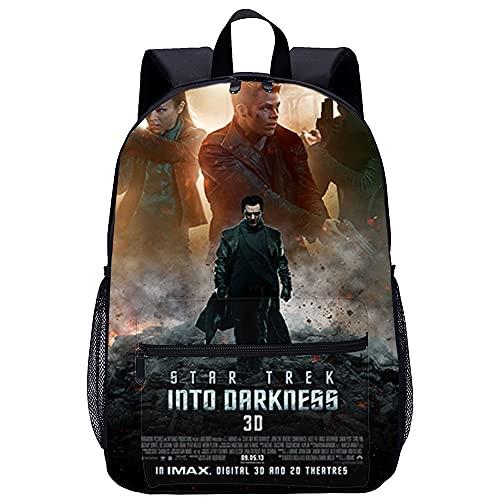 EIGYU 3D-gedruckter Rucksack Schultasche Star Trek Into Darkness Unisex Schultasche Rucksack Freizeit Schulausflug Größe: 45x30x15 cm/17 Zoll Büchertaschen