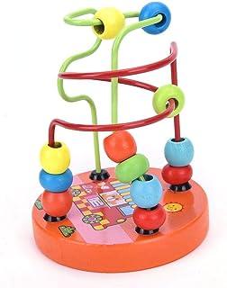 قطع التعليمية مونتيسوري خشبية - سلك المتاهة حول الخرز لعبة أطفال التعلم التنموي