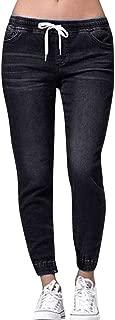 Autumn Elastic Plus Loose Denim Casual Drawstring Plus Cropped Jeans