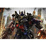 Transformers Puzzle 300/500/1000/1500 Los pedazos de madera adultos Optimus Prime Bumblebee Decepticons descompresión Jigsaw Puzzle R/58 (Size : 300 Pieces)
