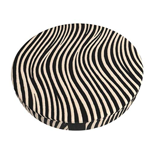 Round Bar Stools Cover,Zebra Quilt Schwarz Und Weiß Ecru,Stretch Chair Seat Bar Stool Cover Seat Cushion Slipcovers Chair Cushion Cover Round Lift Chair Stool