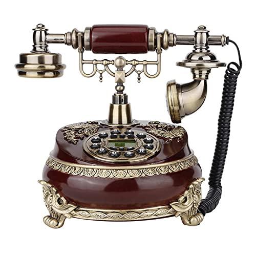 Teléfono retro retro Dinámico Teléfono antiguo antiguo Teléfono fijo, adecuado para decoración del hogar, oficina, decoración de hoteles de estrellas, decoración del hogar, teléfono antiguo co