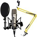 Rode NT1-A Juego condensador Micrófono Keepdrum 5-nb35YW Amarillo brazo articulado trípode