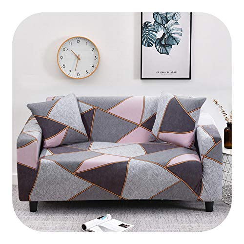 Dellk Elastic Spandex Sofa Cover Tight Wrap All-Inclusive Couch Covers for Living Room Sectional Sofa Cover Love Seat Patio Furniture-Color 30-3-seater 190-230cm