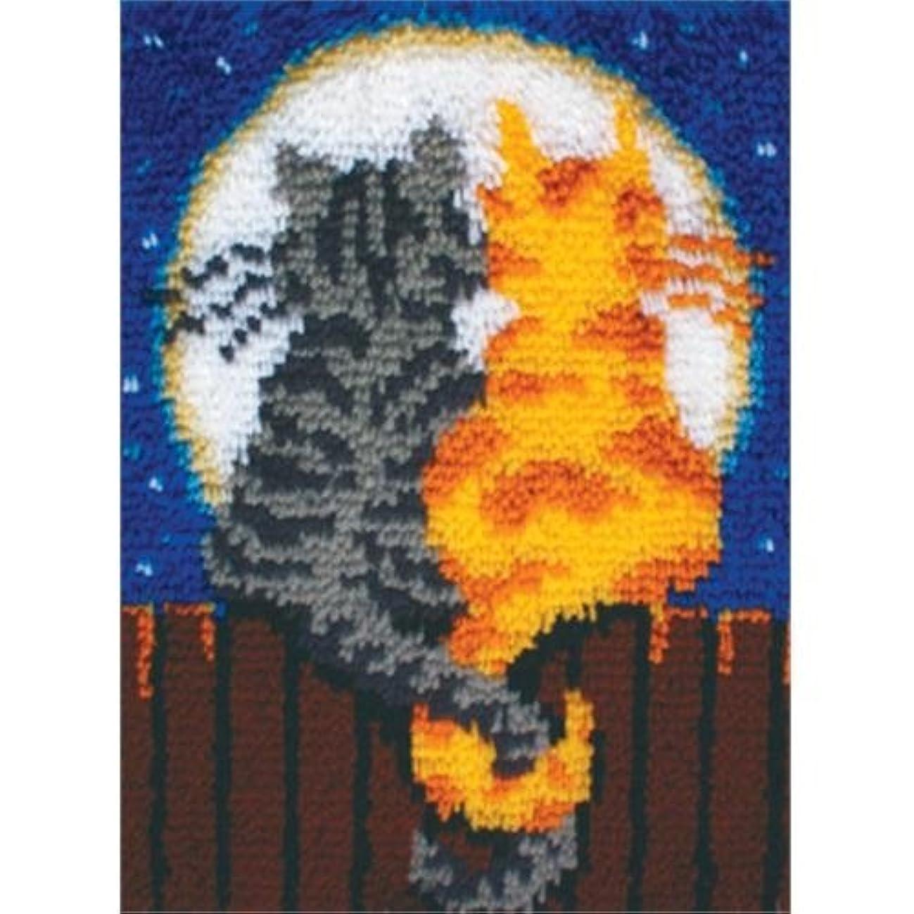 Wonderart Latch-Hook Kit, Moonlight Meow, 15