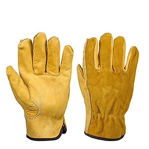 guanti gialli Guanti in pelle bovina