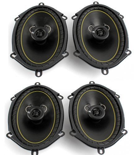 2 Pairs KICKER DS68 6x8' 2-Way Coaxial Car Audio Speakers 280 Watts Total 11DS68