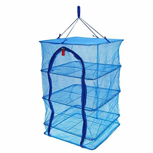 Docooler 40 * 40 * 65 cm Maschenweite 4 Schichten Gemüse Fischgerichte hängend Trocknen Net