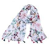 YEZIB Bufanda Bufanda de algodón y Lino Nuevos cojinetes de Flores Chal de impresión Cuatro Temporadas Multifunción Anti-Cool de protección Solar for Mujeres para Mujeres (Color : Multi-Colored)