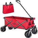 TecTake 800576 Chariot de Jardin Tout-Terrain, Max 80 kg, Pliable en Un Seul Geste - diverses Couleurs - (Rouge | n° 402913)
