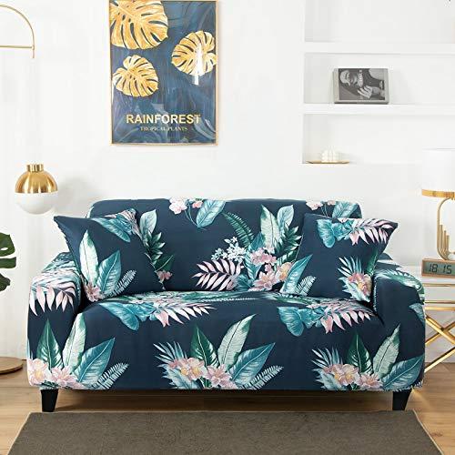Funda de sofá elástica elástica con Estampado Floral, Toalla de sofá de algodón, Fundas de sofá Antideslizantes para Sala de Estar A12 de 3 plazas
