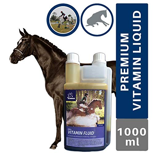 EMMA® Vitamine und Mineralstoffe Pferde I Zink Selen Eisen I Vitamin A D E B-komplex B1 B2 B6 B12 Folsäure I Vitamin A-Z Mineralien I Immunsystem I hochdosiert Fohlen Stuten altes Pferd 1L