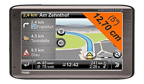 Medion Gopal P5460 EU+ Navigationsgerät (12,7 cm (5 Zoll) Touchscreen, SiRFatlasV 664Hz, 4GB interner Speicher, TMC und NAVTEQ Traffic, Bluetooth, Kartenmaterial EU)