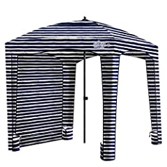 SET UP, TAKE DOWN & CARRYING IS A BREEZE - Enjoy easy set up and take down with 2 MAIN PARTS - the umbrella and the extension pole. It packs down snugly in the combined storage and carrying bag. ATTACHABLE WALL FOR EXTRA SHADE - Get full shade under ...