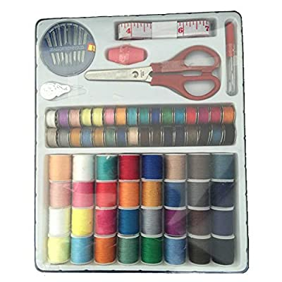 100PC Sewing Kit Thread Threader Needle Tape Storage Box Measure Scissor Thimble Housekeeping Organizers Clearance Sales