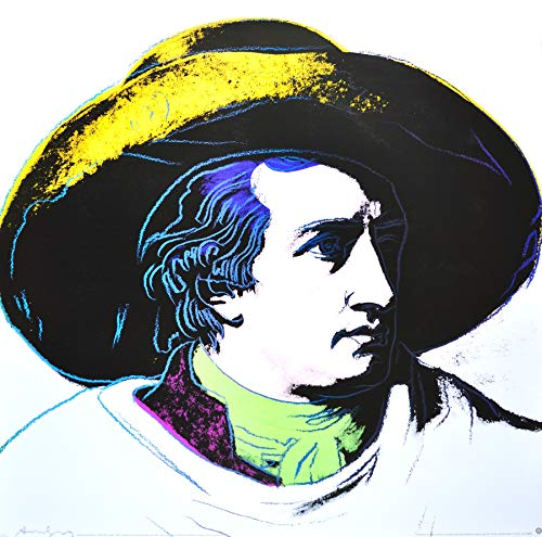 Germanposters Andy Warhol Goethe, White Background Poster Kunstdruck