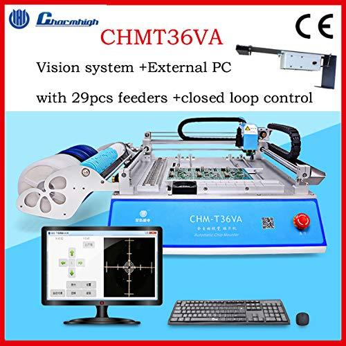 Desktop SMT Pick and Place machine, CHMT36VA (Vision system), closed loop control, 29pcs feeders,0402-5050 SOP QFN TQFP