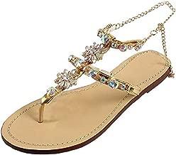 Beikoard Chaussure Tongs,Femmes d/ét/é Mode Flip Flops Sandales /à Talons Hauts Fat Girls Strass Chaussures