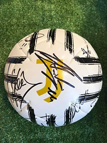 JUVE Pallone bianconero Autografato F.C Juventus 2020/2021Firmata Firme Giocatori