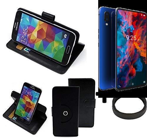 K-S-Trade® Hülle Schutz Hülle Für Archos Diamond 2019 + Bumper Handyhülle Flipcase Smartphone Cover Handy Schutz Tasche Walletcase Schwarz (1x)