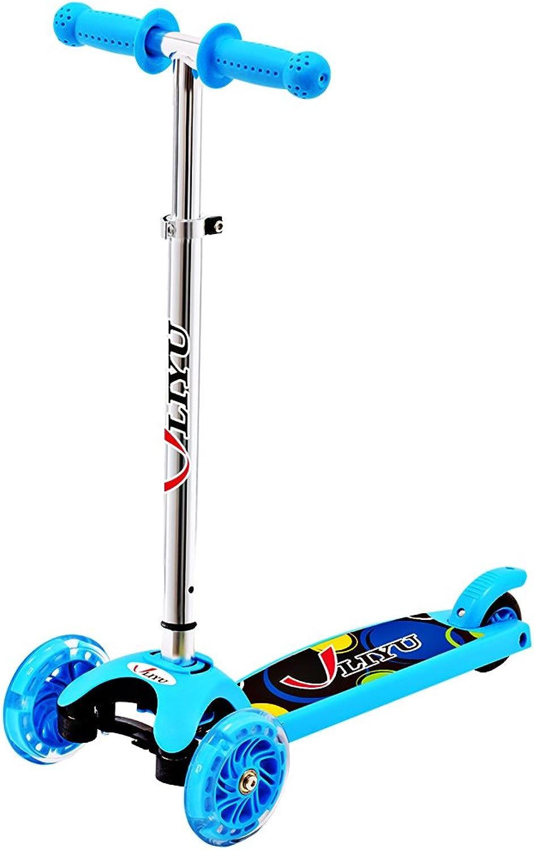 Micro Kick 3 Wheel Scooters with Flashing Wheel for Age 26 Kids (bluee)