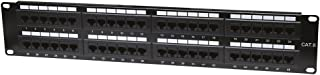 Intellinet 48-Port Cat6 Wall-Mount Patch Panel - Connects RJ45 Ports to a Network - Black, 560283