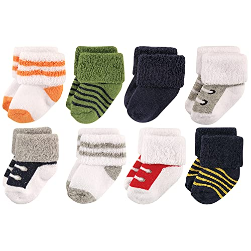 Luvable Friends baby boys Newborn and Terry Socks, Athletic, 0-6 Months US