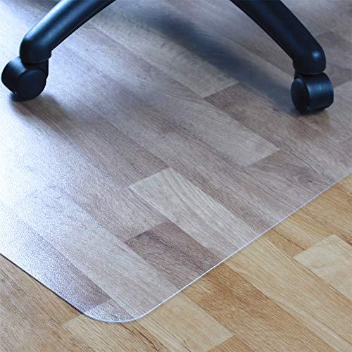 Floortex Advantage Mat Felpudo para Silla de PVC para Suelos Duros, 48' x 36', Rectangular con Labio, Transparente (FR129020LV)