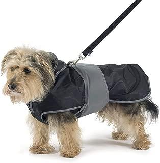 Ancol 2 In 1 Harness Dog Coat (Medium) (Black)
