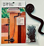 The Gate Lever   Side Post Mount (Color: Black/Spiral)   The Solution to The Unreachable Gate Latch   Universal to Many Gates   Easy to Set Up, Even Easier to Use