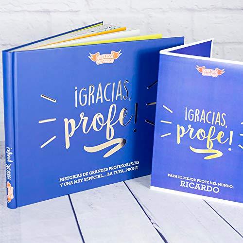 Calledelregalo Regalo Personalizado para Profesores y profesoras: Libro ¡Gracias, profe!' con Tarjeta Personalizada