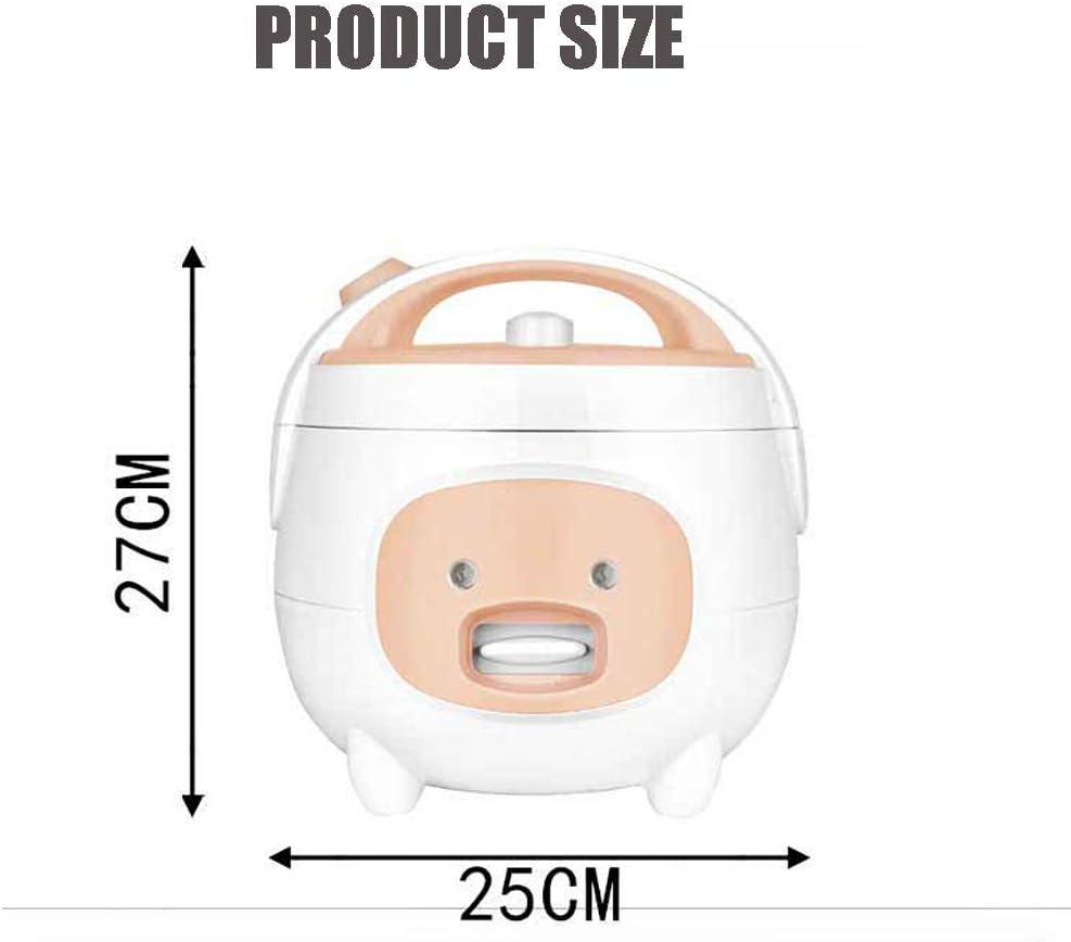 2L Électrique Cuiseur De Riz Cuiseur Multiple Automatique Mini Marmite Portative Avec Pot Intérieur De Qualité Supérieure Réchaud De Cuisine Pour 1-4 Personnes,Blanc Pink
