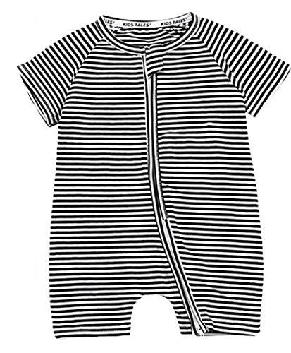 Plus Nao(プラスナオ) カバーオール ロンパース つなぎ 半袖 半ズボン 短パン 前開き ジップアップ ベビー服 総柄 デザイン豊富 チャック 73cm B