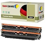 TONER EXPERTE® 2 Negro Cartuchos de Tóner compatibles con HP CF350A 130A (1300 páginas) HP Colour Laserjet Pro MFP M176n M177fw