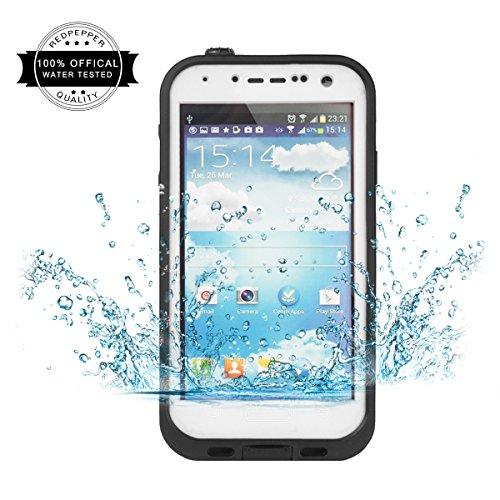 Redpepper Samsung Galaxy S4 Carcasa, IP68 Impermeable Carcasa funda con Protector de Pantalla, anti-agua, anti-polvo, anti-salpicadura, anti-impacto para Samsung Galaxy S4, White