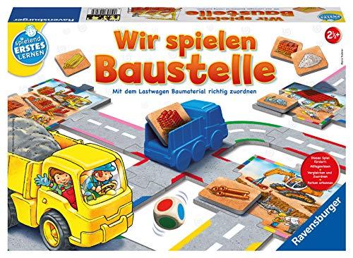 Ravensburger 24726 Wir spielen Baustelle - Bau-und Zuordnungsspiel für die Kleinen - Spiel für Kinder ab 2 Jahren, Spielend erstes Lernen für 1-2 Spieler
