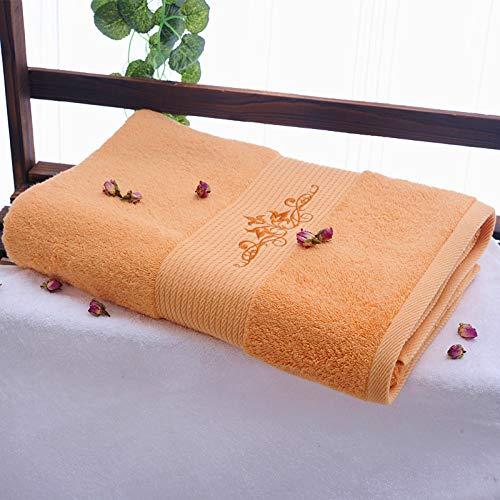 DSJDSFH Platin Satin Besticktes Handtuch Badetuch Gesicht Handtuch Quadratischen Schal Set 160 * 80Cm800G