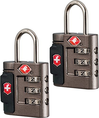 Victorinox Travel Sentry Approved Combination Lock Set, Grey/Red Logo, One Size