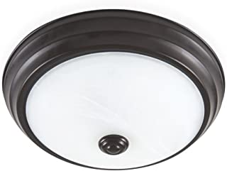 Designers Fountain EVLED502-34-DF Modern Satin Bronze LED Flush Mount with Alabaster Glass, 11