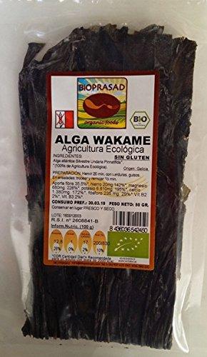 Wakame alga Ecológica / Sin Gluten ni Lactosa / 50 Grs