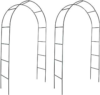 Tidyard 2xArco de Jardin para Plantas Arco para Rosas Arco