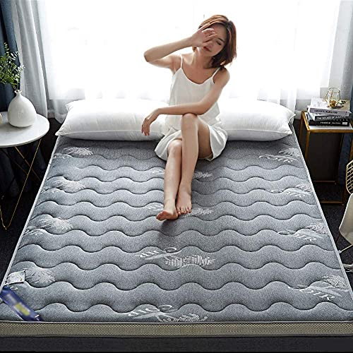 Materasso da letto reversibile, coprimaterasso Tatami spesso Materasso Futon pieghevole da pavimento Materasso per dormire portatile Dormitorio Letto per ospiti per bambini-c 150x200cm (59x79 pollici)